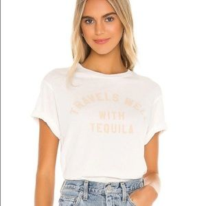 NWT Wildfox Travels Well with Tequila Graphic Tee